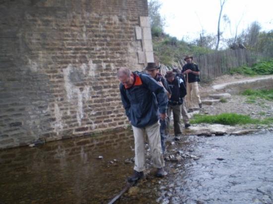 Au départ, le ruisseau n'est pas à sec